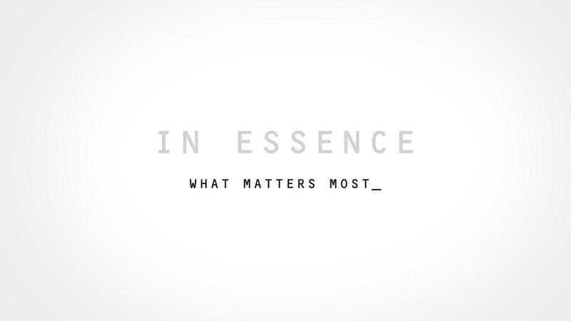 In Essence – Part 1